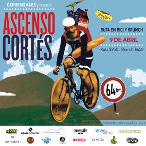 Este 9 de abril @c0mensales organiza el #AscensodeCortés no se lo pierdan!
