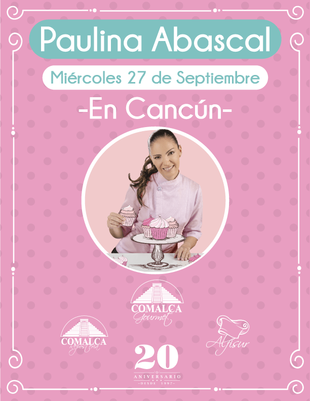 La Chef @Paulina_Abascal estará en Cancún celebrando #20AniversarioGrupoComalcaGourmet @comalcagourmet