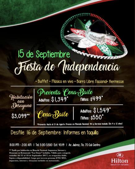 @HiltonMexico ofrece el mejor escenario para festejar las Fiestas Patrias