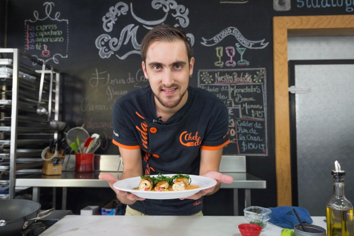 """#Receta del @elchefedd  """"Rotollo de pollo"""" @saborYcaracter"""