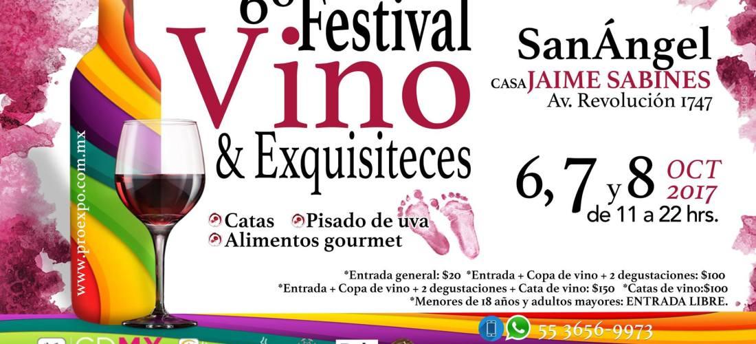 Ya viene el 6º FESTIVAL VINO & EXQUISITECES #Vinos #Licores #Mezcales