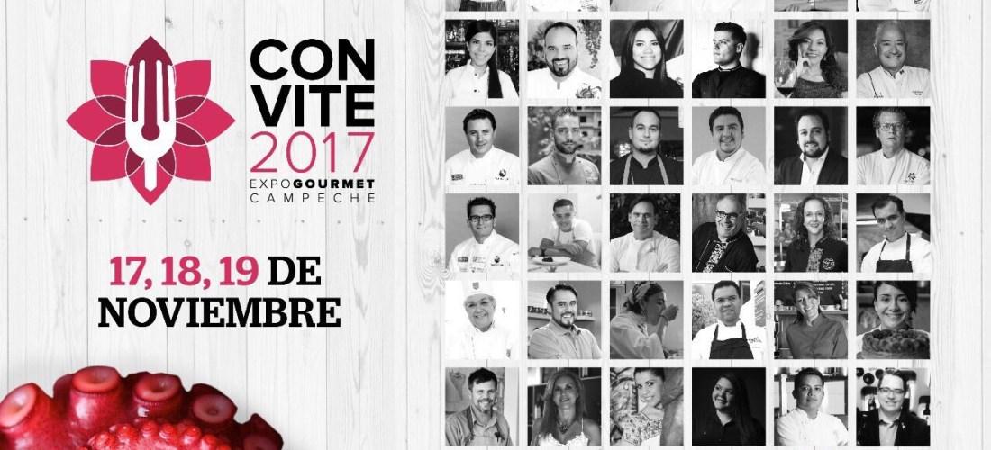 Todo listo para el Festival CONVITE Expo Gourmet Campeche 2017 del 17 al 19 de Noviembre, listos para sentir el golpe de calor de su gente.
