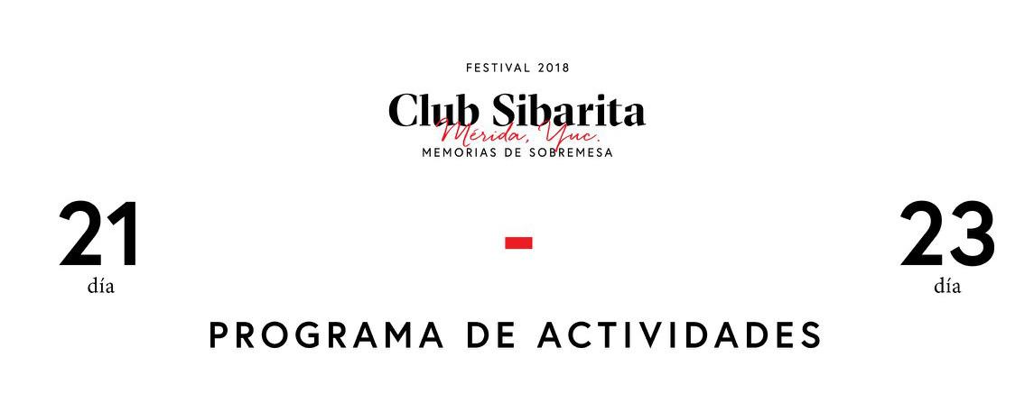 Presentación del programa de actividades @clubsibaritamx