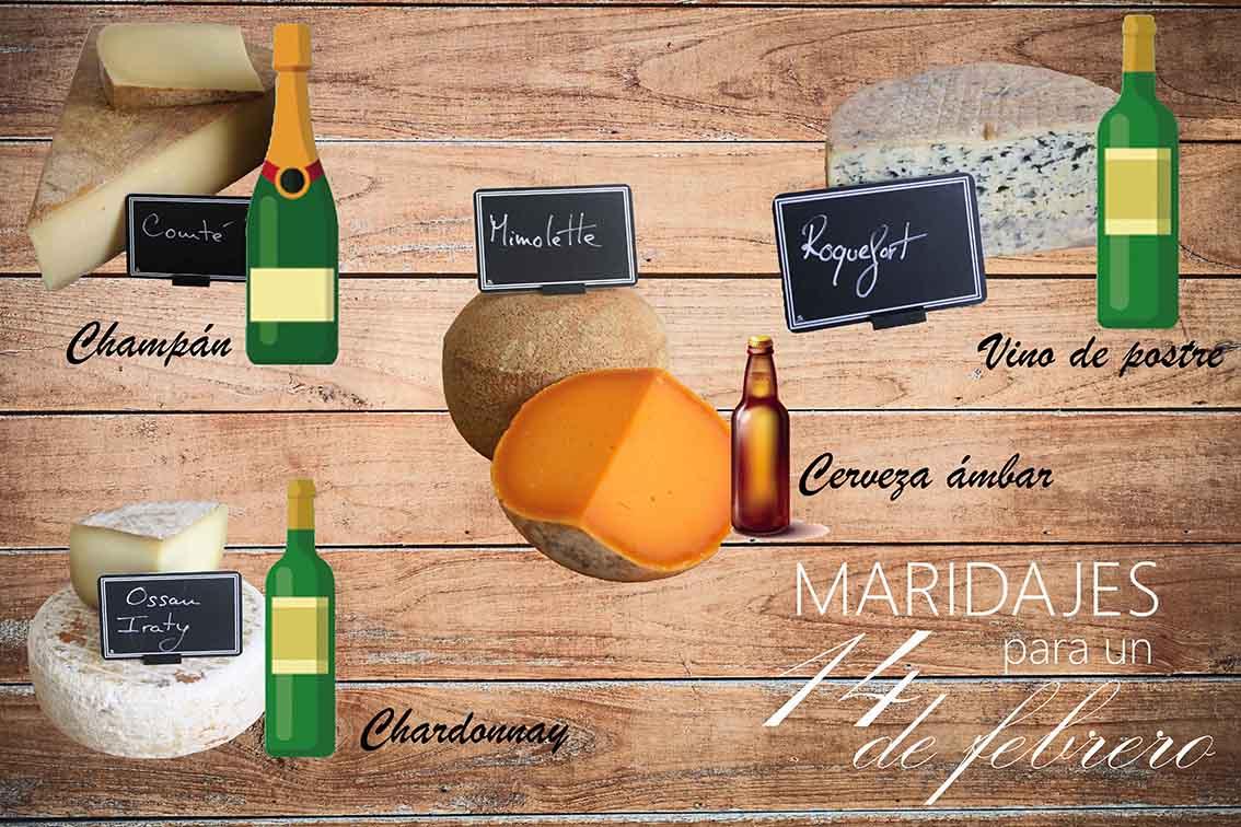 Consiente a tu pareja, con la unión del queso y el vino de @saborYcaracter