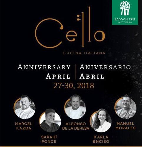 @Banyan_Tree sabores italianos: Aniversario  Cello Cucina Italiana