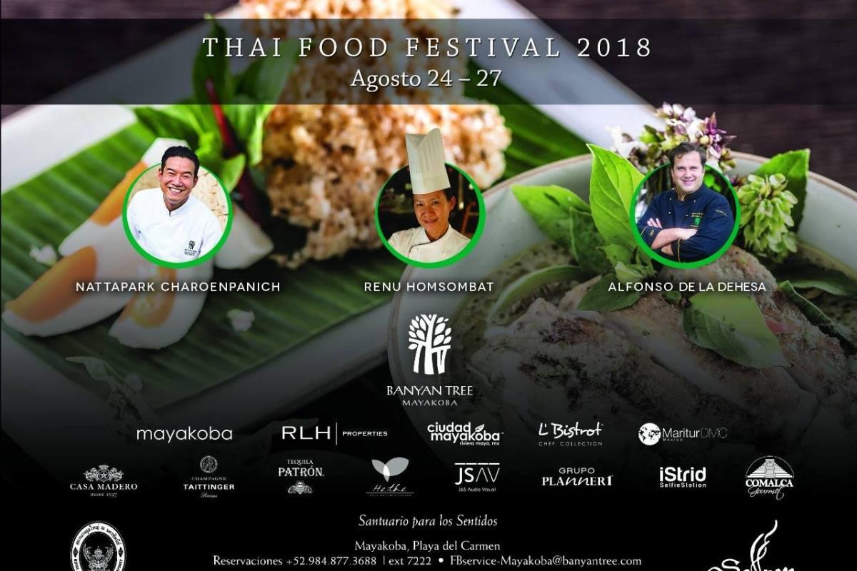 Todo listo para Thai Food Festival 2018 del 24 al 27 de Agosto en @BT_Mayakoba