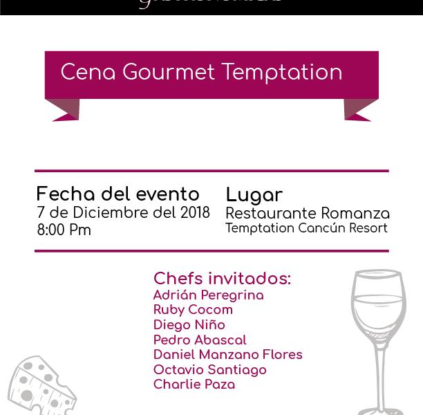 Cena Gourmet Temptation #XperienciasGastronómicas