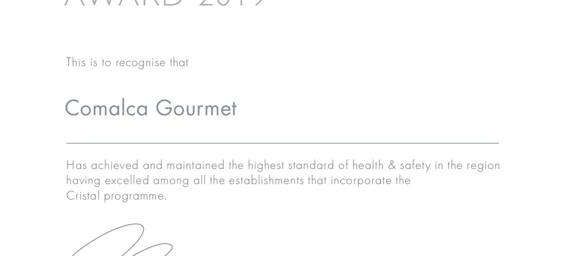 Grupo @ComalcaGourmet recibe 1er Lugar a nivel Nacional de Certificación Cristal en la categoría Proveedores