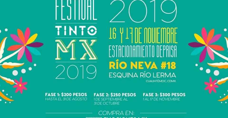 Anuncian la Cuarta Edición del Festival TintoMX ·Se realizará el 16 y 17 de noviembre en la Ciudad de México @MxTinto