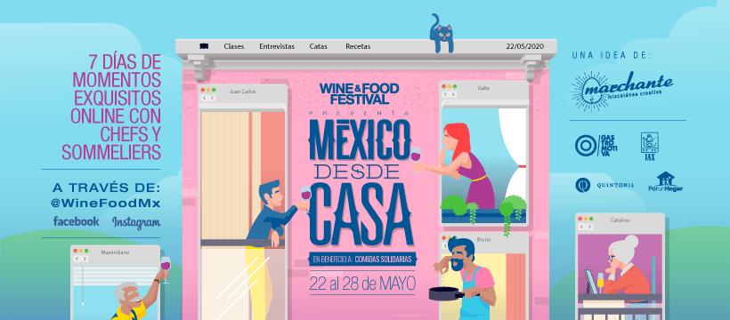 México Desde Casa, en beneficio a Comidas Solidarias: Wine & Food Festival