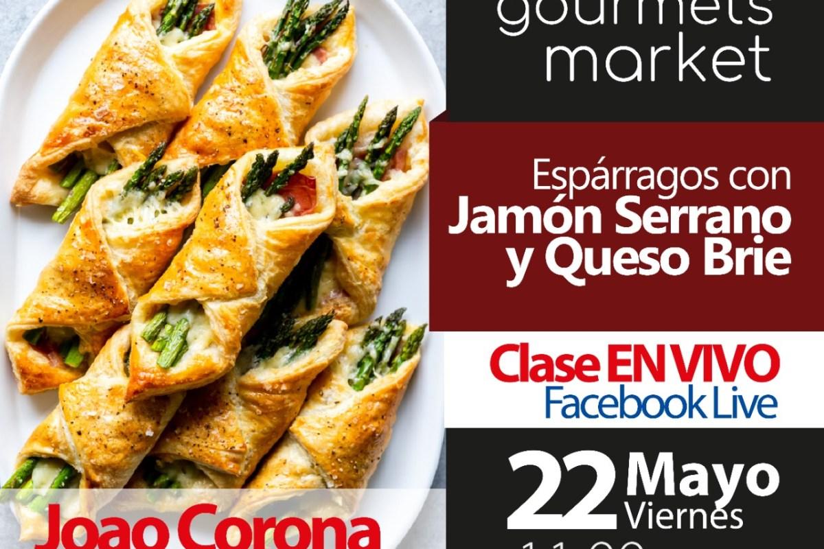 Espárragos con Jamón Serrano y Queso Brie: Xperiencias Gastronómicas