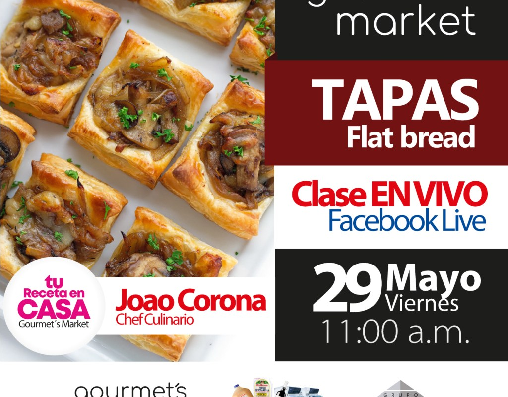 Tapas Flat Bread Con Joao Corona by Gourmet´s Market