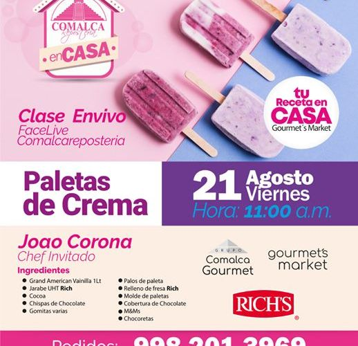Paletas de Crema by Comalca Repostería con chef Joao Corona