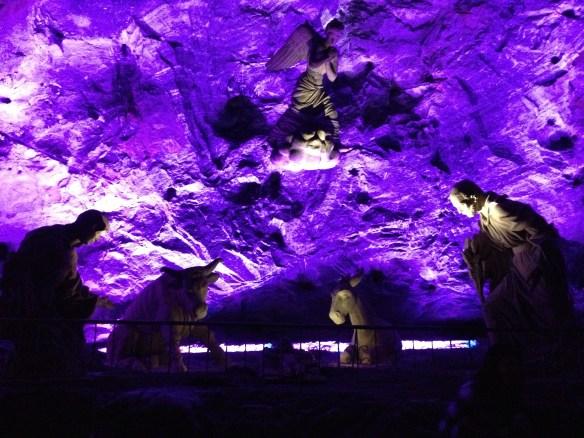 Pesebre en la catedral de sal de Zipaquirá