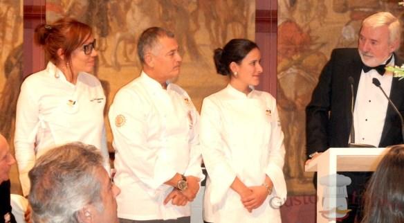 Leonor Espinosa, Carlos Yanguas y Camila Marulanda.