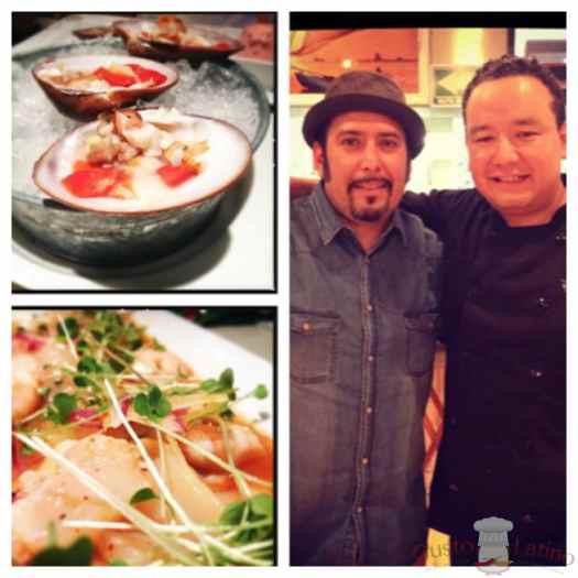 Chef Eric Díaz con Cookingnow de Gustolatino en La Trainera