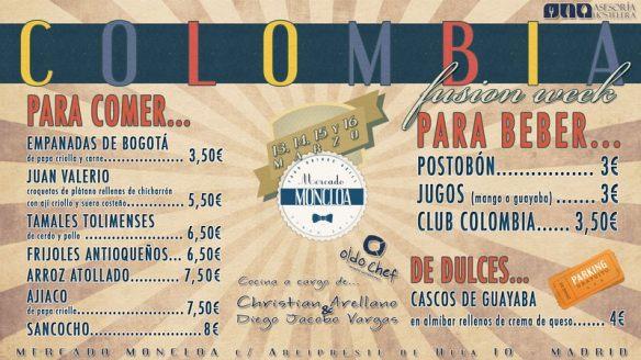 Carta de precios evento gastronómico