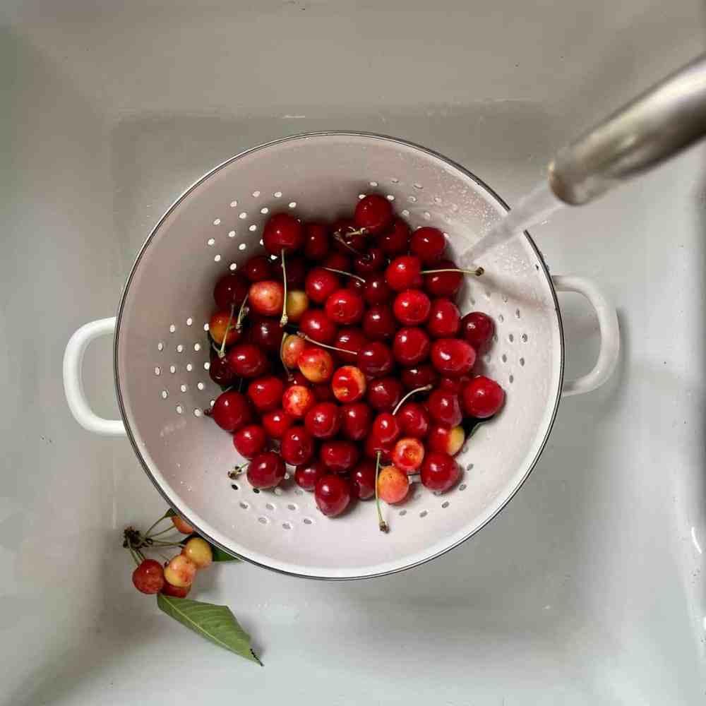 Kirschen waschen
