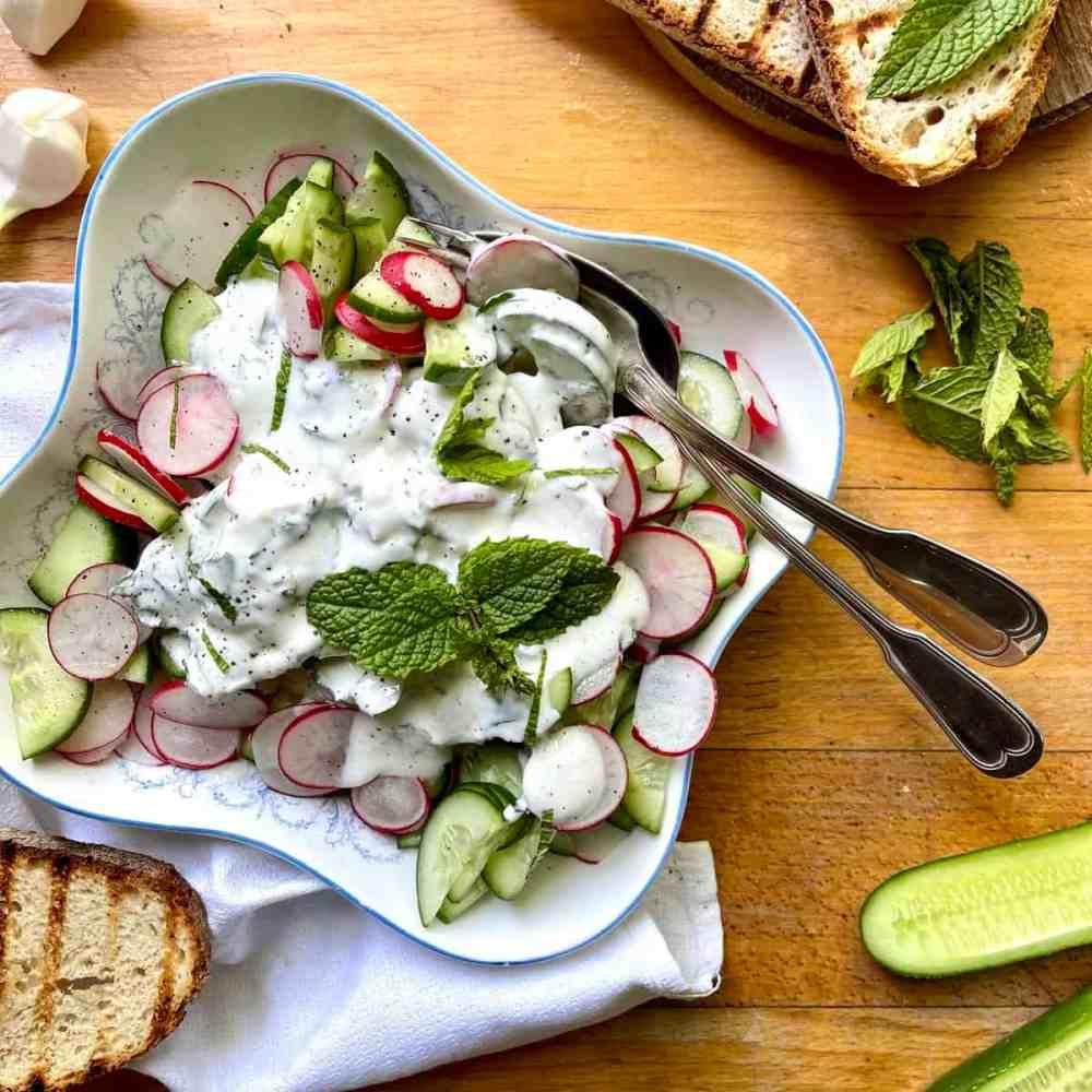 Gurken Radieschen Salat