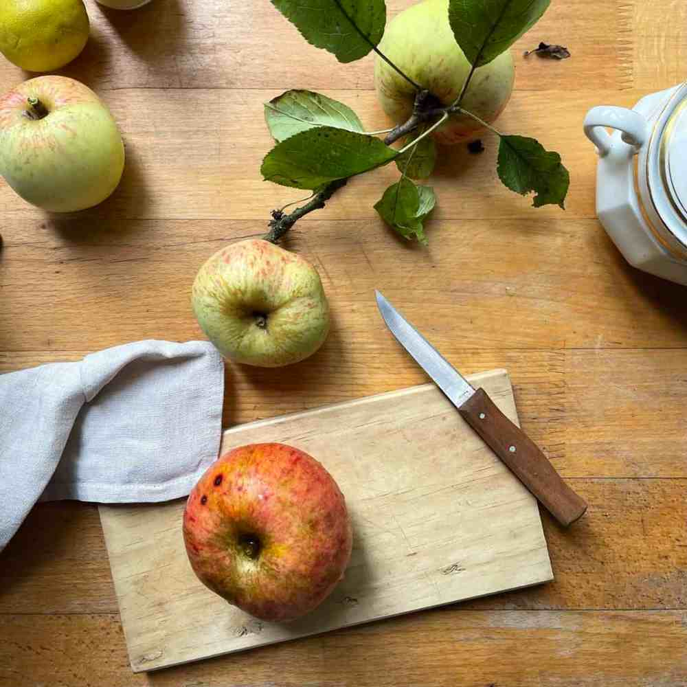 Ein mittelgroßer Apfel reicht.