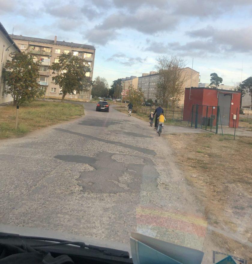 Verarmte Sozialbauten in Liepāja im Stadtteil Karosta
