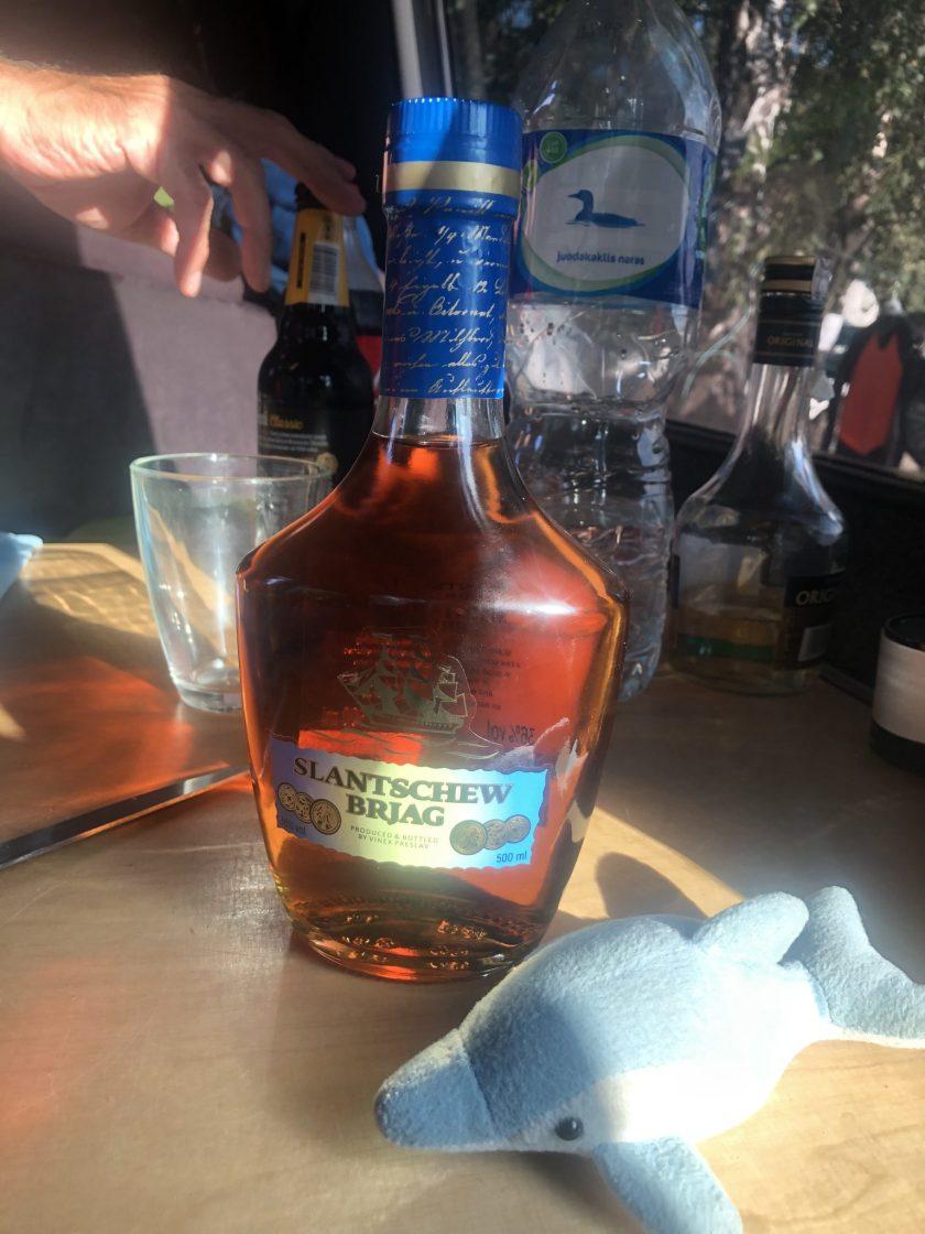 Slantschew Brjag ist ein polnischer Brandy. Ein übles Gesöff.
