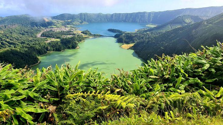 Blaue und grüne Lagune