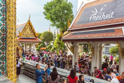 ...und in den Tempel Wat Phra Kaeo