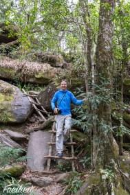 Carsten auf dem Weg zum Popkvil Wasserfall