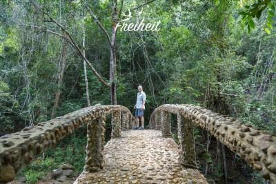 Brücke zum Than Mayom Wasserfall
