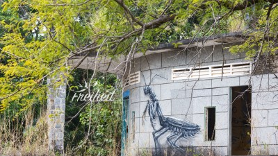 Street-Art im Bokor Nationalpark