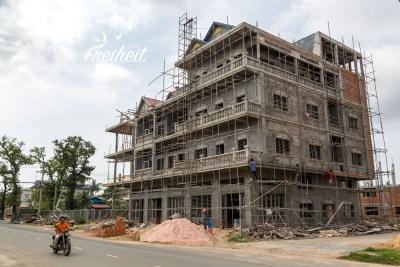 Baustelle in Kampot