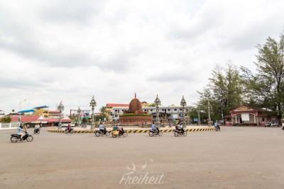 Durien-Kreisverkehr in Kampot