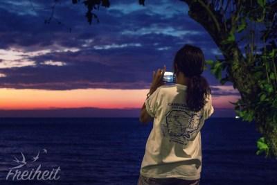Ae, die superliebe Mitarbeiterin, die hier jeden Sonnenuntergang fotografiert :)