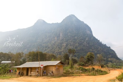 Blick auf den eben bestiegenen Berg