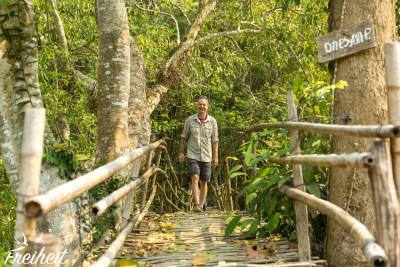 Bambusbrücke - one by one. Alle einzeln nacheinander ;-)