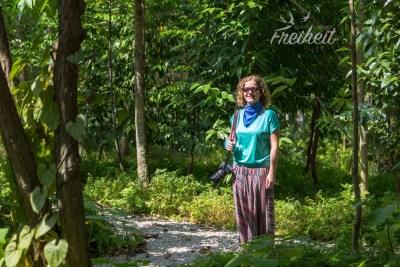 Nadine mitten im Wald, äh Singapur