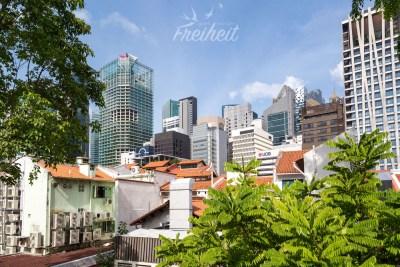 Singapur ist eng bebaut aber trotzdem hat man nie das Gefühl eingeengt zu sein
