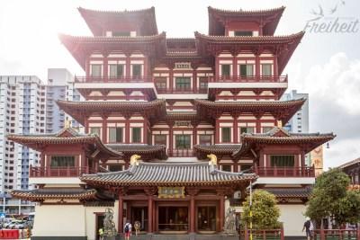 Der fünfstöckige Buddha Tooth Relic Tempel in Chinatown
