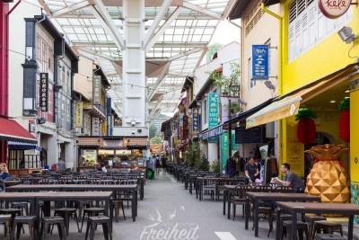 Foodhawker in Chinatown - in sogenannten Foodhawkern kann man günstig essen gehen in Singapur. Hier findet man indisch, chinesisch, thailändisch und noch viel viel mehr...