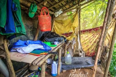"""Die """"Hütte"""" von unserem Guide"""