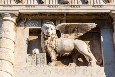 Der geflügelte Löwe des Landtors