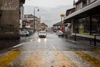 Die Straßen sind verdammt schnell unter Wasser