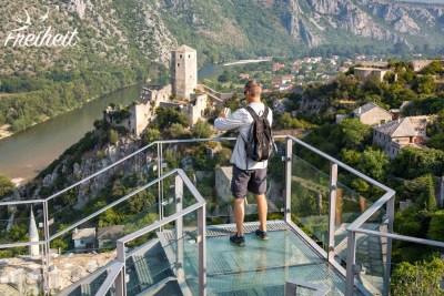 Blick von der restaurierten Burg Pašina tabija