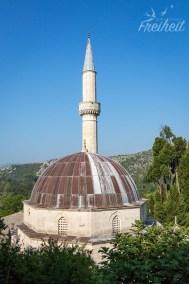 Moschee Šišman Ibrahim-Paša - im Bosnienkrieg stark beschädigt - später wieder hergestellt
