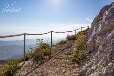Kurzer Weg um den Gipfel herum