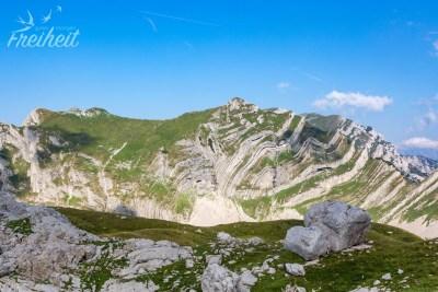 Aufgefalteter Berg - genial wie man die ganzen Schichten sieht