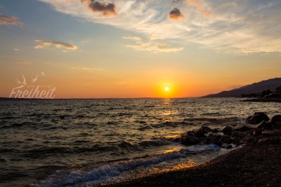 Sonnenuntergang in Starigrad Paklenica