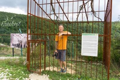 In diesem Käfig musste die Bärin Kassandra elf Jahre lang hausen