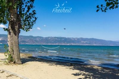 Ohrid See auf albanischer Seite